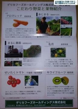 デリカフーズホールディングス 野菜セット優待内容04 201709