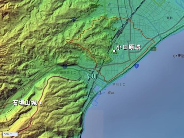 石垣山城_広域図