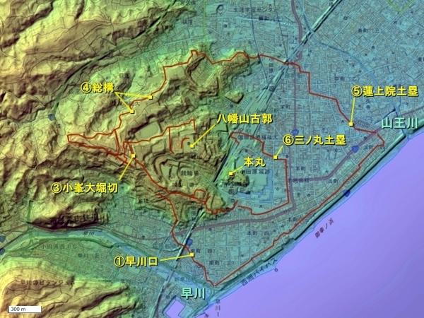 小田原城_広域図