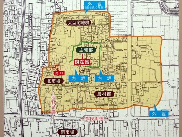筒井城概要図