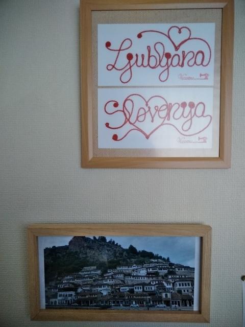 アルバニア ベラト風景の額縁2