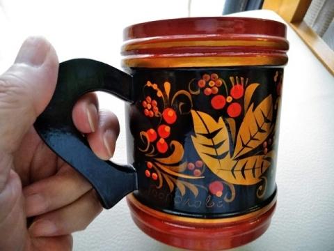 ロシア伝統ホフロマ塗りマグカップ2