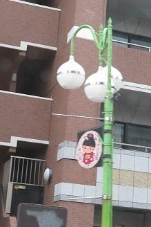 東京浅草付近 街灯