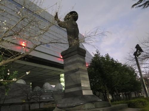 江戸東京博物館 鷹狩り家康像