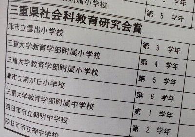 社会科教育研究会賞7名