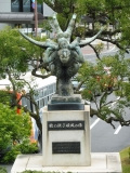JR倉敷駅 鶴の親子順風の像