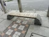 JR新南陽駅 イシダイのベンチ