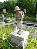 JR信濃川上駅 駅構内の二宮金次郎像