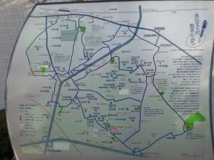 01 東京散策 文士村散策地図 南北逆