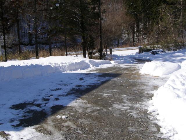 雪かき終了0127