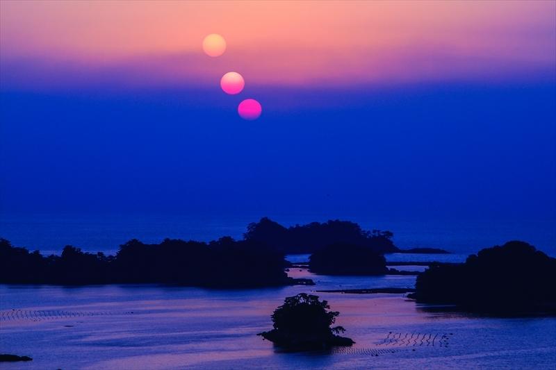 夕陽点描-7D九十九島