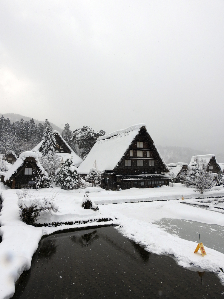 みんな楽しそうに雪とたわむれたり、写真を撮ったり、白川郷6