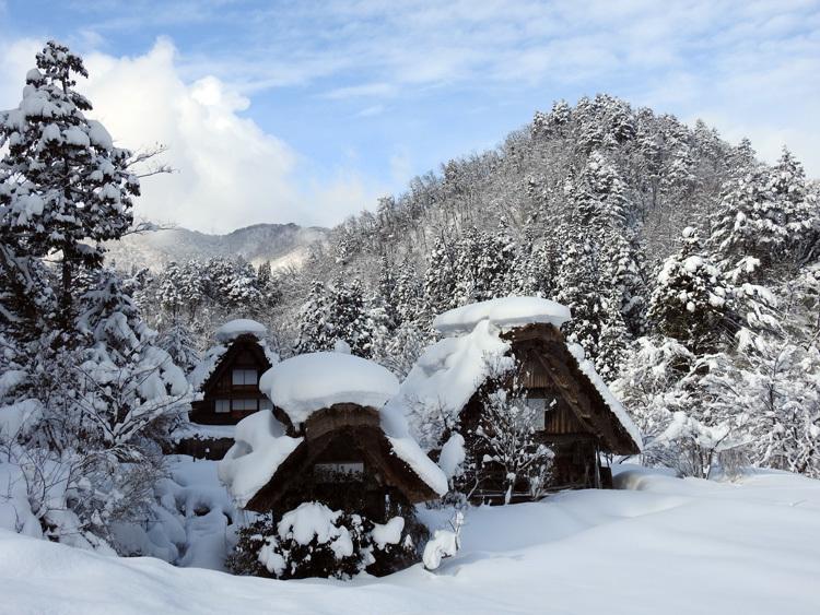 白川郷 澄んだ空気と雪景色が美しい7