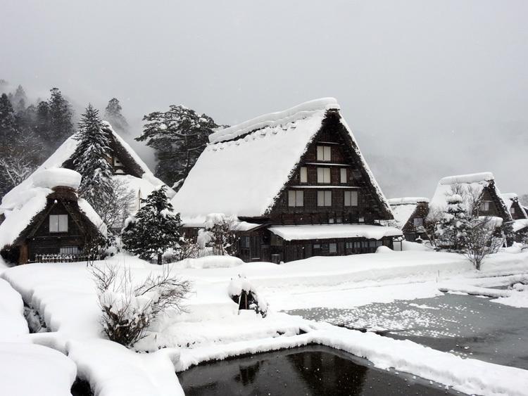 冬の最強寒波の猛威が続く白川郷1