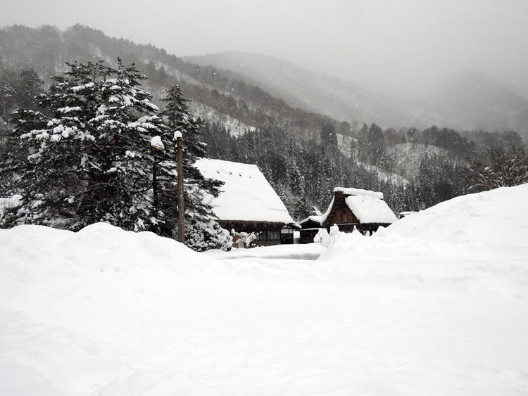 冬の最強寒波の猛威が続く白川郷7