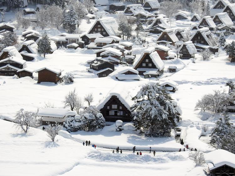 白川郷はやっぱり雪景色1