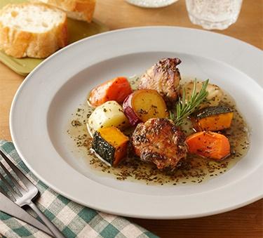 鶏肉と野菜のハーブ焼中