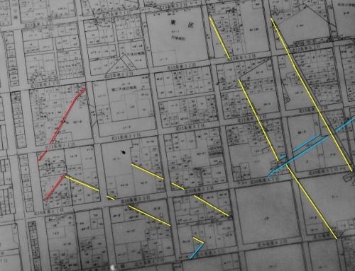 札幌市地番図 東区 大友堀の痕跡