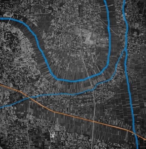 空中写真 1961年 稲沢市 三宅川 大江用水