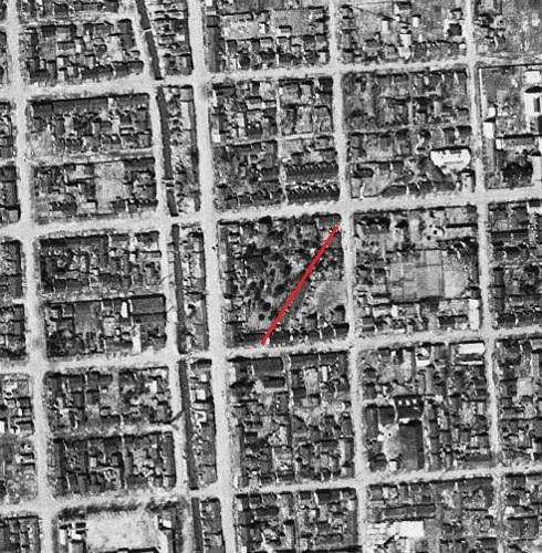 空中写真 1948年 東皐園付近