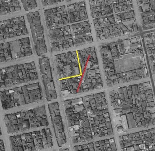 空中写真 1961年 東皐園付近