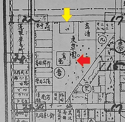 最新調査札幌明細案内図 東皐園 写真撮影位置