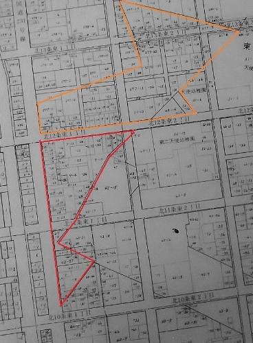 地番図1998年 北11条東1丁目周辺