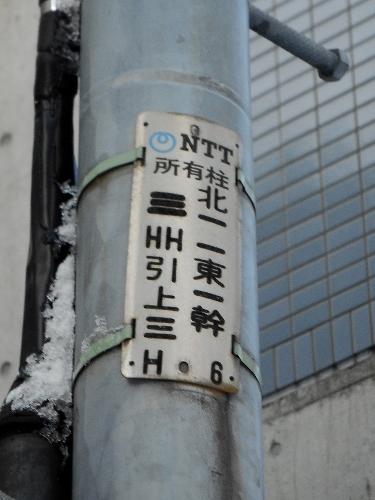 北11東1 電柱 北一一東一幹