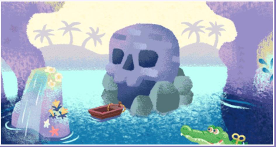 ドクロ岩の遊具
