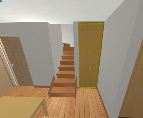 飛び出る階段