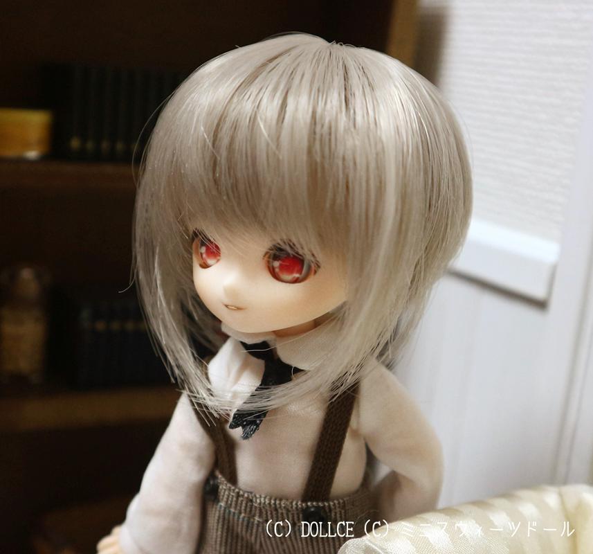 [Sunny*MooN] 4inch wig ノアスタイル ウォームミルクグレイ