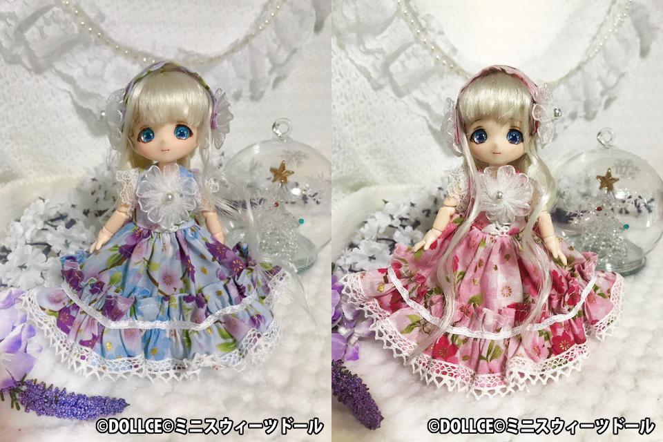 [雪月夜] 桜の和柄ドレス