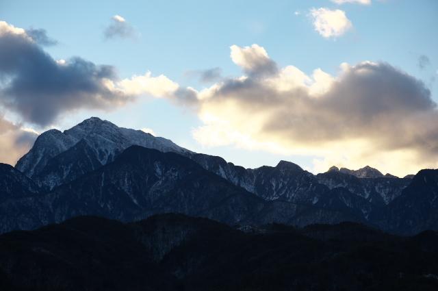 雪の少ない南アルプス甲斐駒ヶ岳-01