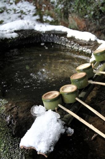 神魂神社の手水