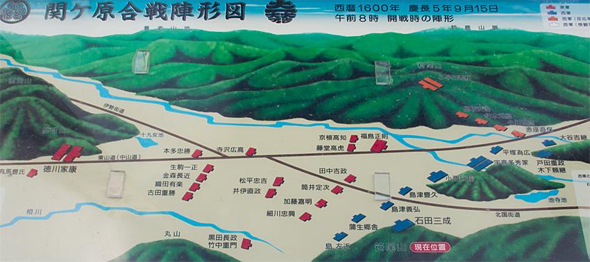 関ヶ原合戦陣形図