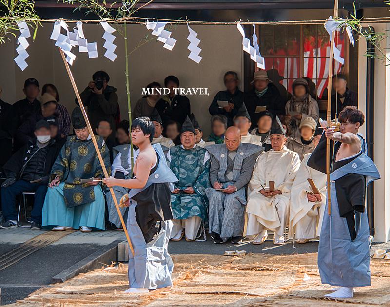 友呂岐神社 お弓行事