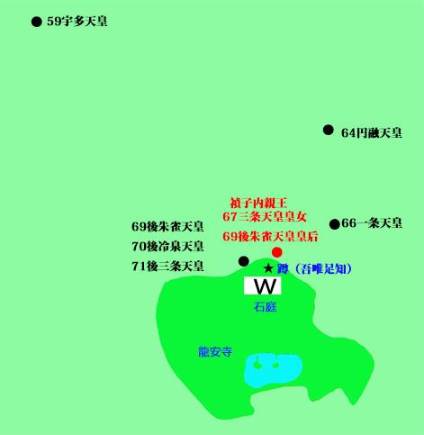 龍安寺周辺図