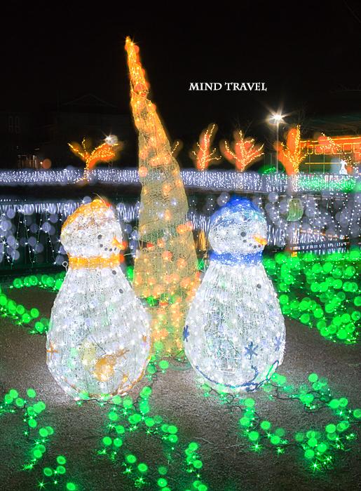 天理市 光の祭典 スノーマン