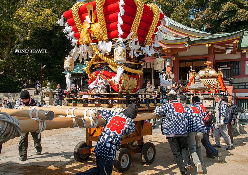 由良湊神社 ねり子祭-ふとん太鼓3