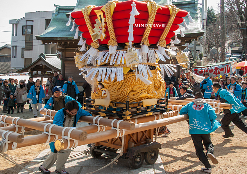 由良湊神社 ねり子祭-ふとん太鼓2