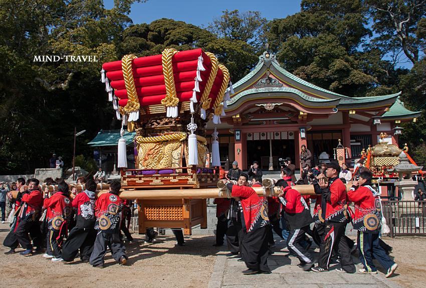由良湊神社 ねり子祭-ふとん太鼓4