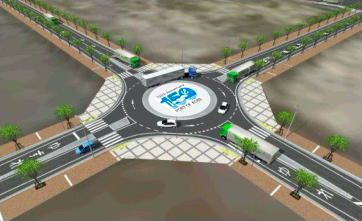 20171222神戸市の環状交差点