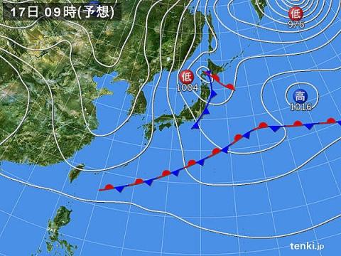 天気図17日