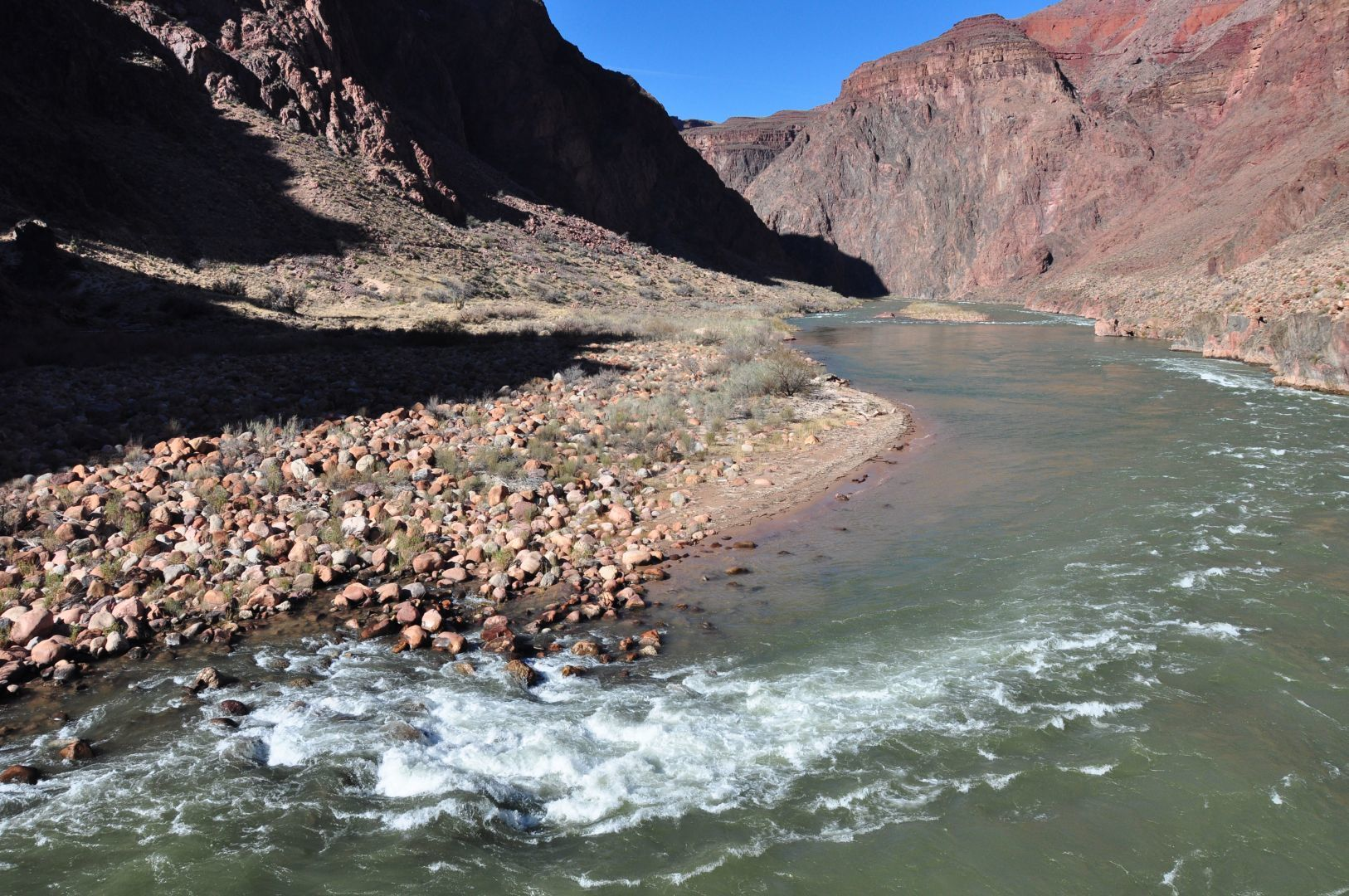 colorado river at the bottom of G canyon