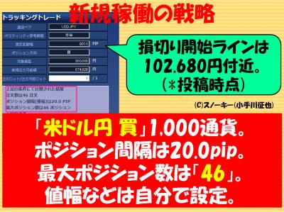 20180110トラッキングトレード検証米ドル円ロング