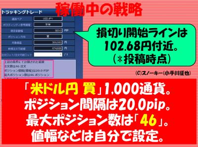 20180113トラッキングトレード検証米ドル円ロング