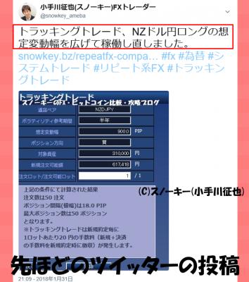 20170131トラッキングトレード検証Twitter