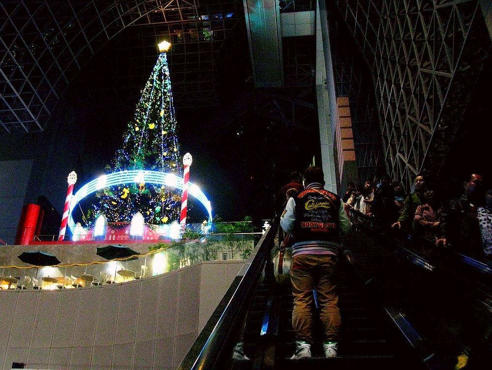 2013_11_25京都駅:クリスマス夜景13