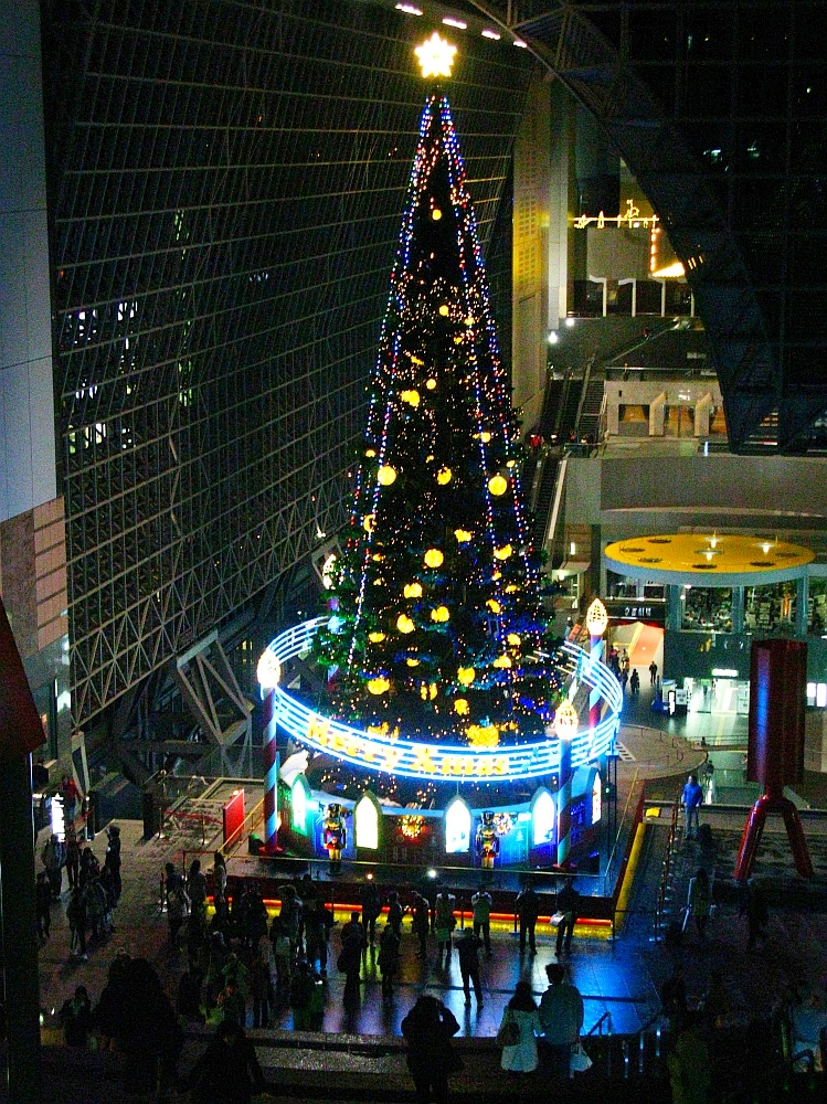 2013_11_25京都駅:クリスマス夜景18