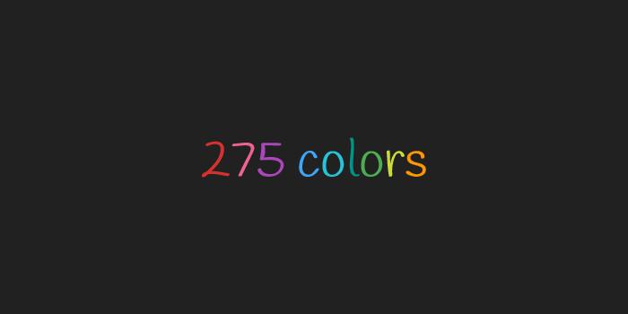 275 colors